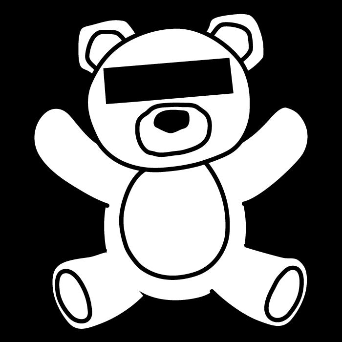 シンプルな線で描かれたクマのイラスト