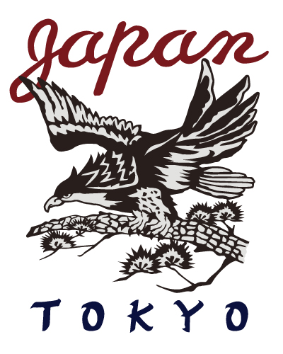 日本のスカジャン鷹デザイン
