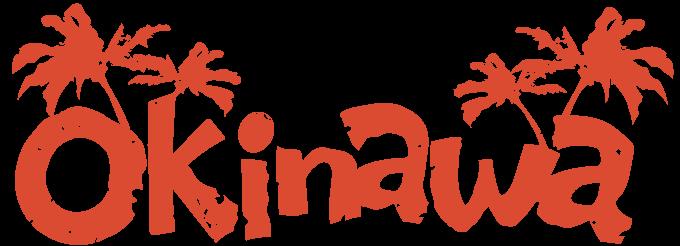 オレンジ一色のOKINAWAロゴデザイン