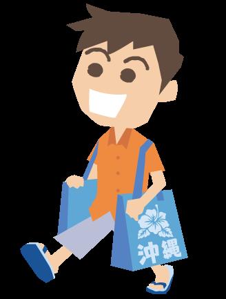 i000363_お土産袋を持っている男性
