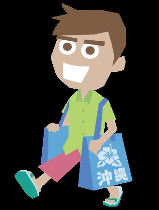 i000365_お土産袋を持っている外国人男性