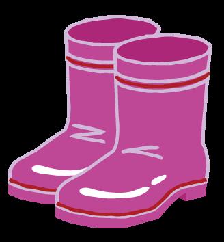 i000373_ピンク色のレインブーツ