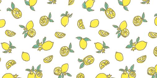 レモンのパターンデザイン
