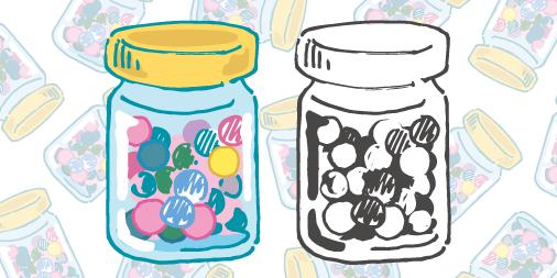 キャンディボトルのイラスト