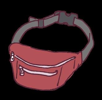 i000399_赤いウエストバッグ