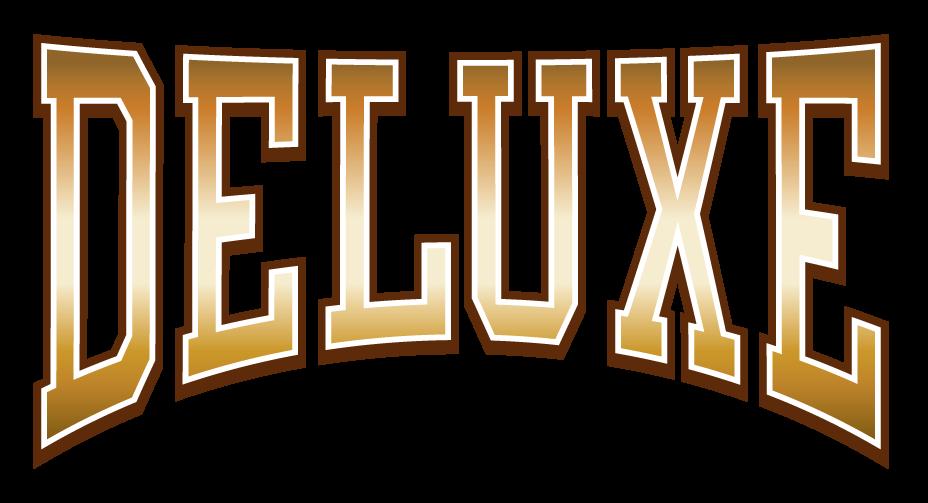 DELUXEのゴールドなロゴデザイン