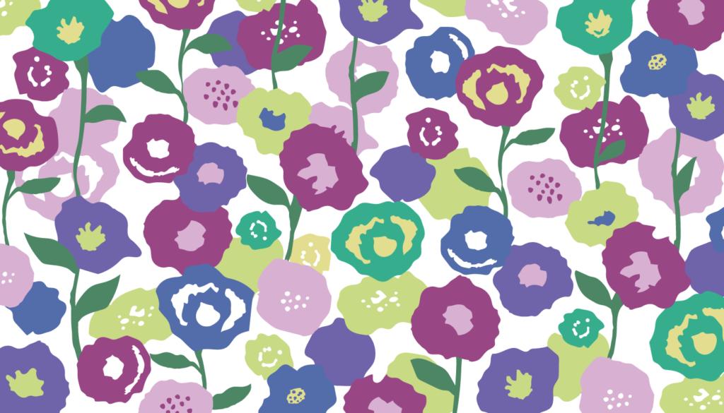 花柄の背景イラスト