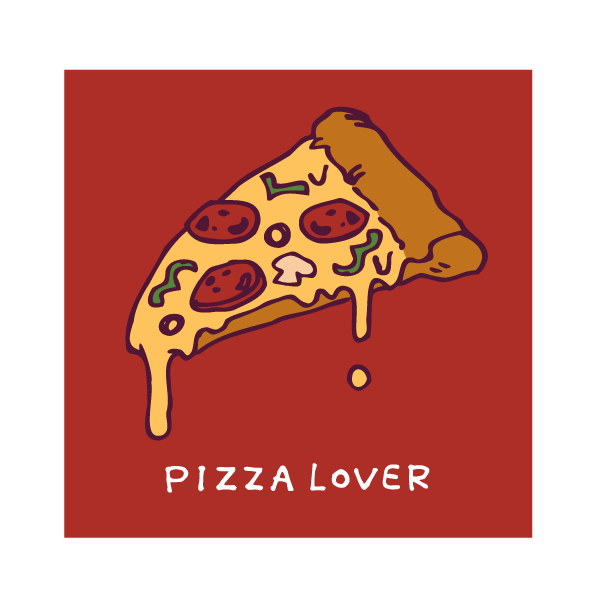 PIZZA LOVERのイラスト