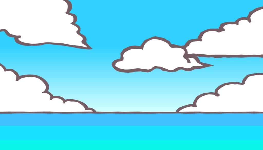 晴天の昼過ぎの海