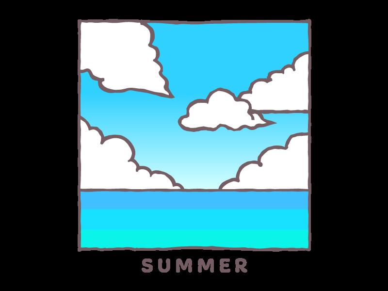 夏の海イラスト
