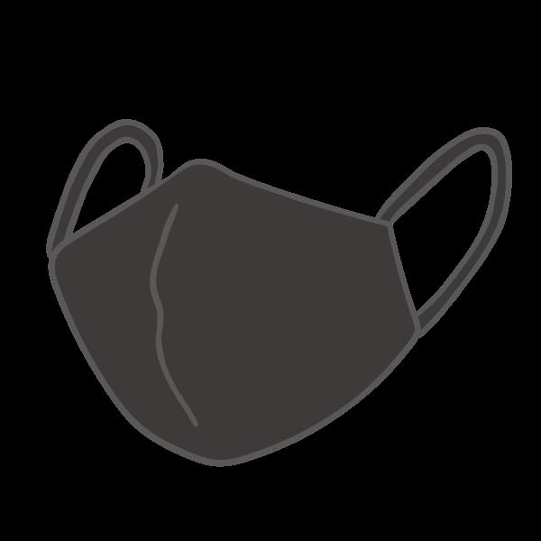 黒いマスクのイラスト