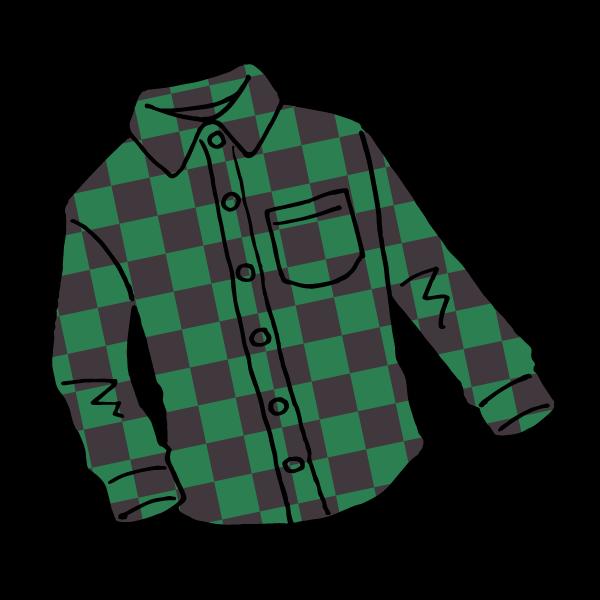 グリーンシャツのイラスト