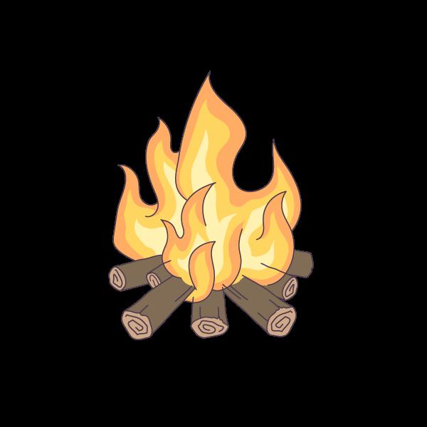 たき火のイラスト