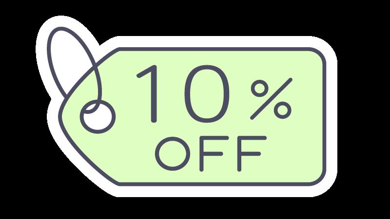 10%OFFタグ