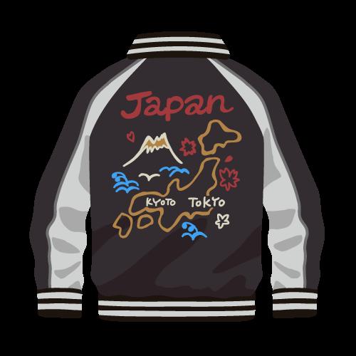 日本地図柄のスカジャン
